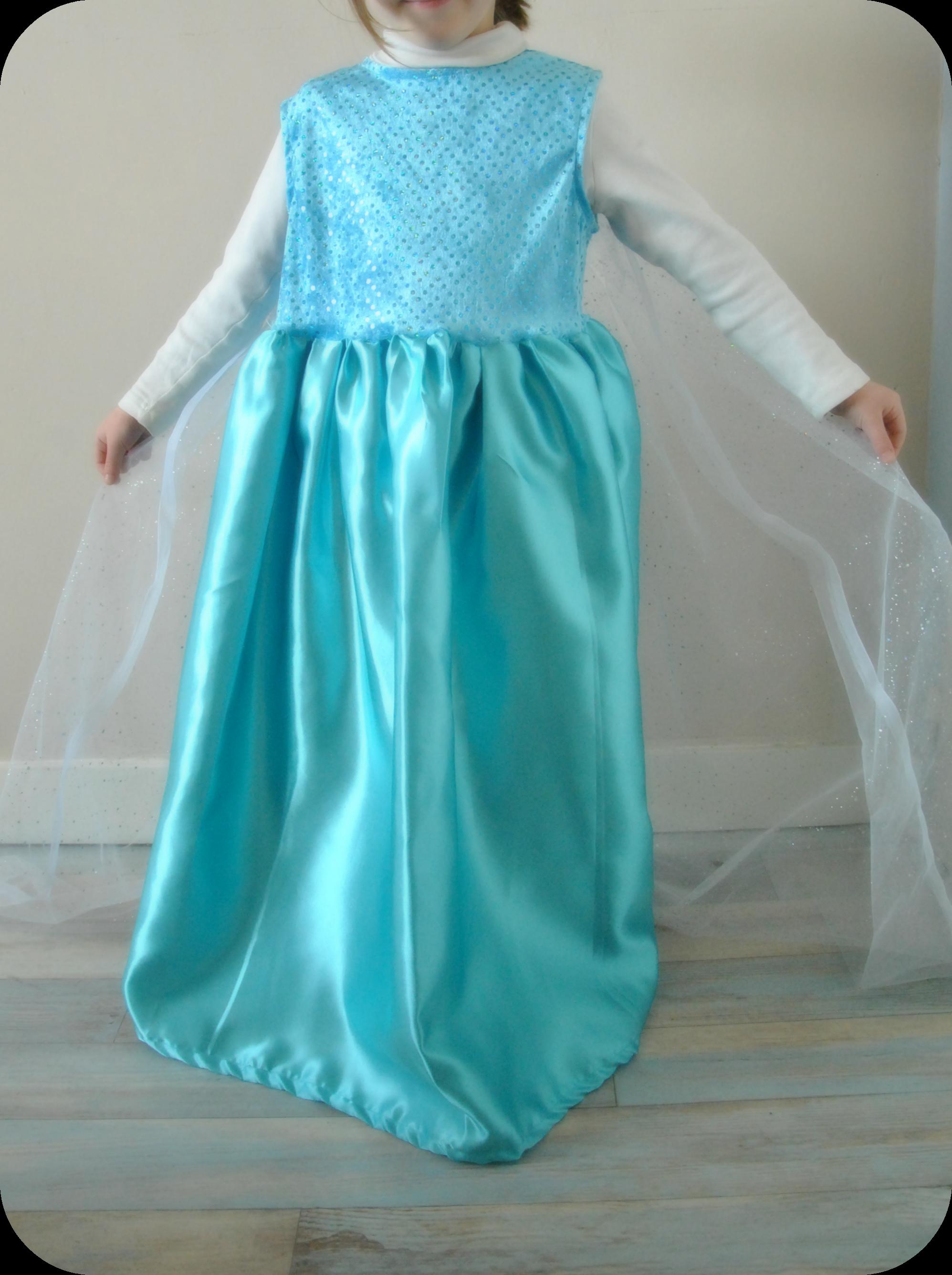 Couture enfant mademoiselle lu - Robe reine de neige ...