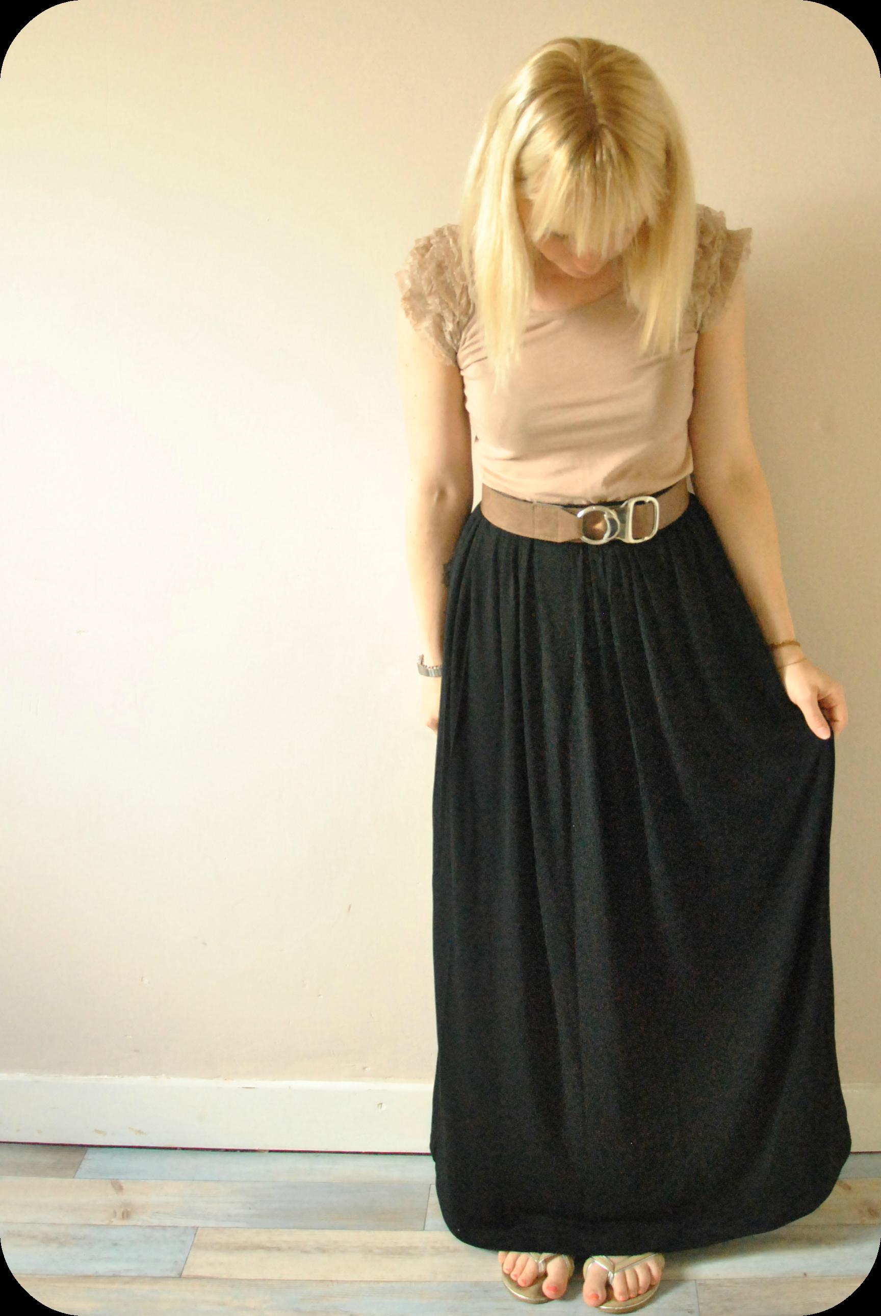 Le cas de la jupe longue - Patron jupe elastique fille ...